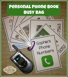 Phone Book Busy Bag for Toddlers - Learning Numbers