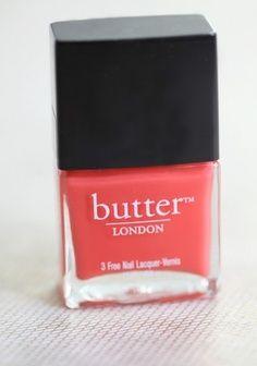 pretty coral nail polish