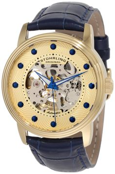 b747afacf59 discount Original Men s Classic Helios Automatic Skeleton Blue Watch