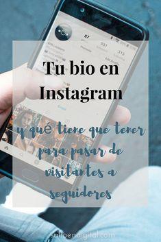 [VIDEO] Como tiene que ser tu bio en #Instagram para pasar de visitantes a seguidores Instagram Cool, Frases Instagram, Instagram Tips, Instagram Feed, Instagram Story, Social Networks, Social Media, Albert Schweitzer, Blogging