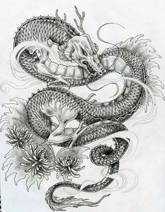 Japanese dragon tattoo design by ~ZakariasEatWorld