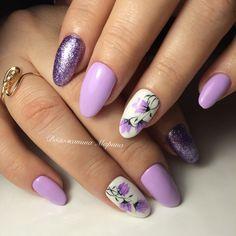 Violet Nails, Purple Nails, Nail Designs Spring, Cool Nail Designs, Spring Nails, Summer Nails, Lavender Nails, Floral Nail Art, All Things Purple