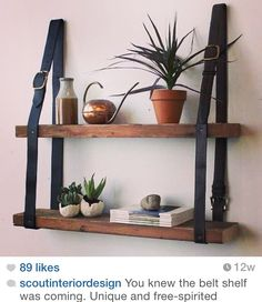 Cool belt shelving.