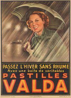 Pastilles Valda vintage advertising poster