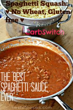 How to Make Spaghetti Sauce - Wheat Belly Recipes ♥ Grain Brain Diet Amazing Spaghetti Sauce + The Best Spaghetti Sauce Ever {Semi-homemade Style} carbswitch.com #carbswitch Please Repin.