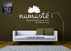 Wall Decal Vinyl Sticker Decals Art Decor Design Lotus Words Soul Namaste yin yang Buddha Ganesha Dorm Office Yoga Modern Bedroom (r1094) CreativeWallDecals http://www.amazon.com/dp/B00MFMH3LK/ref=cm_sw_r_pi_dp_KxTJwb08X6Z5M