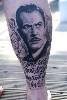 Gawd, I love Vincent Price tattoos. - @Angie Jantz