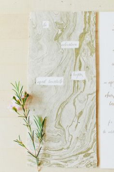 Marble themed wedding invitation: http://www.stylemepretty.com/2014/10/02/whimsical-brunch-wedding-in-downtown-los-angeles/ | Photography: Onelove - http://www.onelove-photo.com/