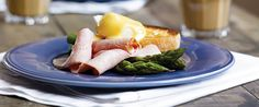 Eggs Benedict with Ham & Asparagus: Create the café experience at home with this premium breakfast recipe. A wonderful way to start your day, with the joy that you made this yourself.