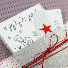 Glitter paper pocket cards