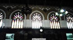 Ventanales de la estación de tren de Toledo. Es de estilo neomudéjar y se inauguró en 1919 y se restauró en 2005. Windows train station Toledo Neomudejar style