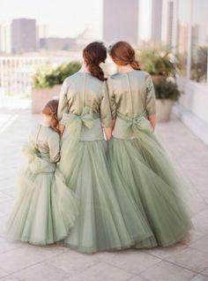 lovely sage green elegant flower girl dresses