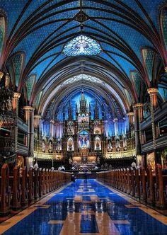 Notre-Dame Basilica, Montreal, Canada.