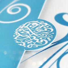 Arabic Calligraphy on wedding invitation. #Natoof