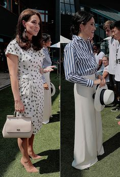 Catherine & Meghan looking stunning during their first joint outing as sisters-in-law at Wimbledon. || June 14th, 2018