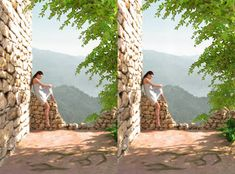 Waiting Cross-eye by arisuonpaa on DeviantArt Magic Eye Pictures, 3d Pictures, Eye Illusions, 3d Foto, Cross Eyed, Magic Eyes, Far Away, Worlds Largest, Cool Art
