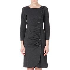 ARMANI COLLEZIONI Ruched-front dress (Grey