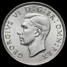 1946 George VI Silver Two Shilling Coin / Florin, A/UNC