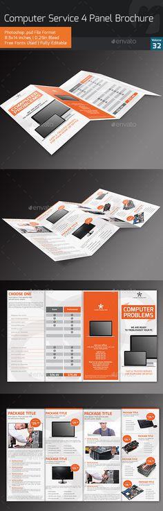 Computer Service 4-Panel Brochure V32