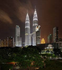 The Petronas Twin Towers - Get it as a print at http://vedd.imagekind.com
