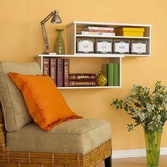 Hack shoe racks into a modern shelf! » Curbly | DIY Design Community