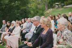 audience at beginning of ceremony