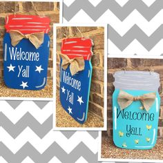Hey, I found this really awesome Etsy listing at https://www.etsy.com/listing/238999858/reversable-mason-jar-door-hanger