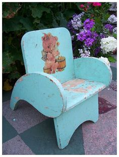 Vintage Child's Garden Chair