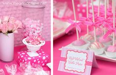 Adorable Pretty in Pink Birthday Party // Hostess with the Mostess® Baby Girl First Birthday, Pink Birthday, First Birthday Parties, First Birthdays, 4th Birthday, Birthday Ideas, Pink Cake Pops, Pink Cakes, Blog Bebe