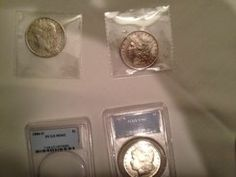 Examples of Chinese counterfeit coins and slabs shown by PCGS at the Congressional Awareness event. Coins, Articles, American, Silver, Gold, Bartender, Rooms, Yellow, Money