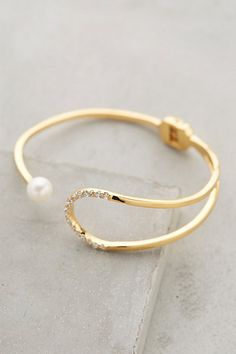 Pearl Eclipse Cuff by Gold Philosophy #anthroregistry