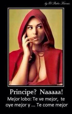 Definitivamente Lobo!! ;) encontrado en Face Book Humor en el Aire