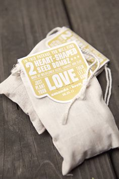 DIY Virginia Wedding - they used heart-shaped seed bombs as favors - what a great idea!