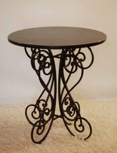 Wrought Iron Table Legs Black Sweet Stella