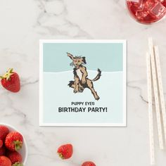 Serve up the party with custom personalized paper napkins. Sold in quantities of Dimensions: x (folded), 3 ply. Party Napkins, Cocktail Napkins, Puppy Eyes, Ecru Color, Animals Images, All Design, Presentation, Cocktails, Puppies