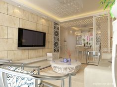Wall Designs With Tiles For Living Rooms