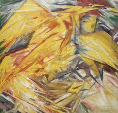 Михаил Ларионов (1881-1964) - Петух (Лучистый этюд). 1912. Холст, масло. 68 x 65 см.Государственная Третьяковская галерея, Москва