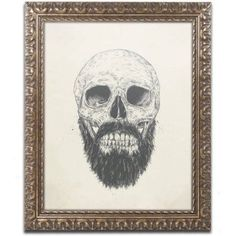Trademark Fine Art The Beard Is Not Dead Canvas Art by Balazs Solti, Gold Ornate Frame, Size: 11 x 14