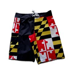 9f8d2e6a5372 Maryland Flag (Black)   Board Shorts