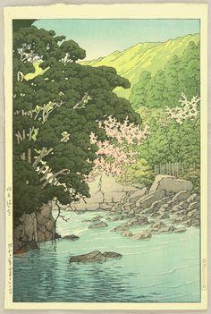 Kawase Hasui, Yugashima in Ito, 1936.