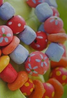salt dough beads (green crafts for children)