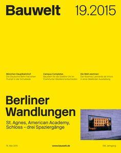 Bauwelt. 19.2015. Berliner Wandlungen. Sumario: http://www.nextroom.at/periodical.php?id=22440  Na biblioteca: http://kmelot.biblioteca.udc.es/record=b1182820~S1*gag