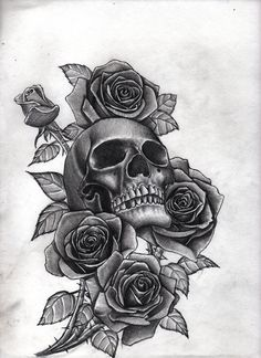 roses_and_skull_by_bobby_castaldi_art-d8jo10m.jpg 4,250×5,849 pixels