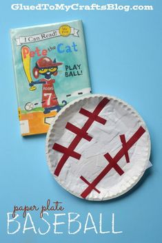 Pete the Cat craft as a reading response activity for Play Ball.