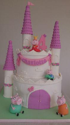 Peppa Castle Cake!