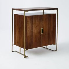 Baron Deco Bar Cabinet - Espresso-This room wouldn't be complete without THIS bar! Cabinet Shelving, Sideboard Cabinet, Cabinet Furniture, Metal Furniture, Modern Furniture, Home Furniture, Furniture Design, Credenza, Buffet Console