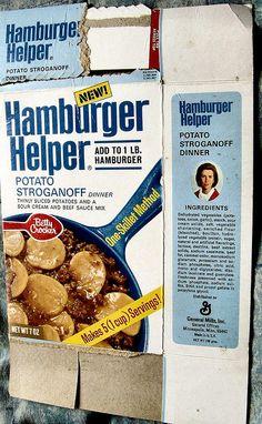1970/71 Hamburger Helper box | Flickr - Photo Sharing!