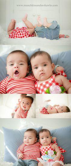 5 month old twin boy girl babies www.munchkinsandmohawks.com/blog