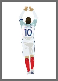 Wayne Rooney Poster x An Poster of England and Manchester United Forward Wayne Rooney. All posters are printed on paper and are sent in a mailing tube or Hard Back Envelope. Dele Alli, Wayne Rooney, England Football, Best Football Team, Manchester United Football, Caricatures, Football Players, Premier League, Pop Art