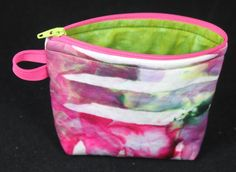 small bag made with soy wax ice dyed fabric. #icydelights lyndaheines.com Ice Dyeing, Bag Making, Different Colors, Coin Purse, Wax, Wallet, Fabric, Painting, Tejido